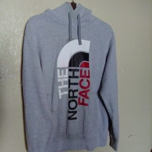 💣North Face Gry Hoodie w/Pockets  Sz L💣